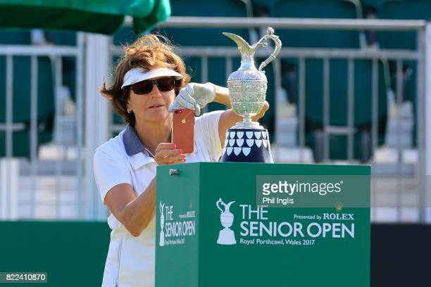 Lynette Federer during the ProAm ahead of The Senior Tour Open Championship played at Royal Porthcawl Golf Club on July 25 2017 in Bridgend Wales