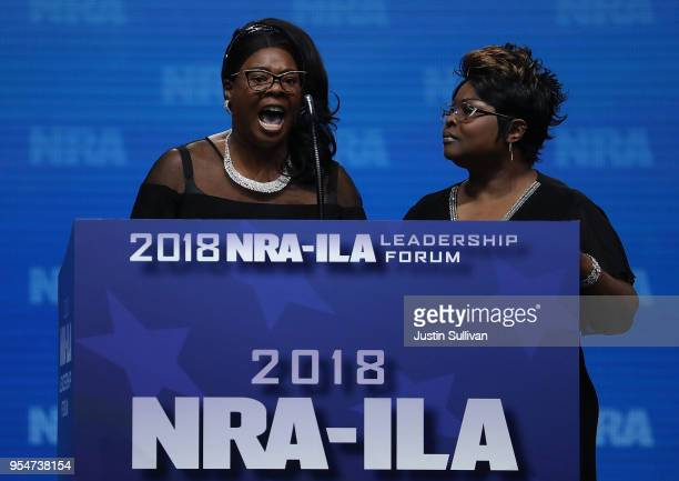 Lynette Hardaway and Rochelle Richardson also known as Diamond and Silk speak at the NRAILA Leadership Forum during the NRA Annual Meeting Exhibits...