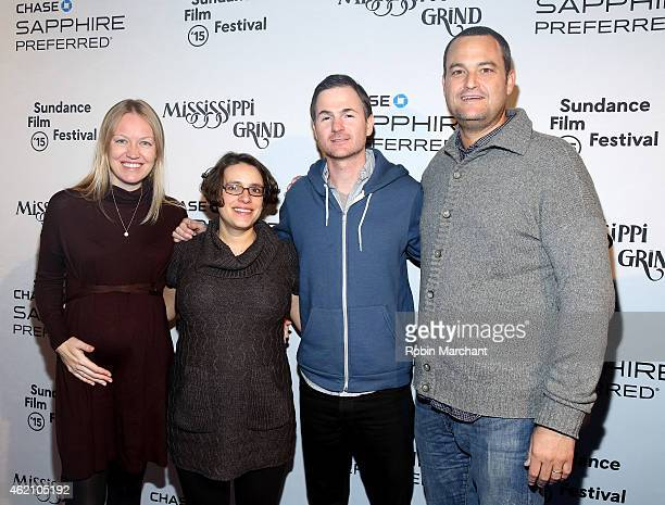 Lynette Howell Anna Boden Ryan Fleck and Jamie Patricof attend the 'Mississippi Grind' premiere party at Chase Sapphire on January 24 2015 in Park...