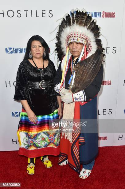 Lynette Two Bulls and Chief Phillip Whiteman Jr attends the premiere of Entertainment Studios Motion Pictures' 'Hostiles' at Samuel Goldwyn Theater...