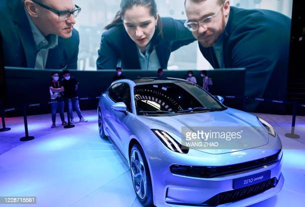 Lynk & Co Zero concept car is displayed at the Beijing Auto Show in Beijing on September 26, 2020.
