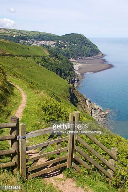 lynmouth, exmoor national park, somerset, england, united kingdom, europe - exmoor national park 個照片及圖片檔