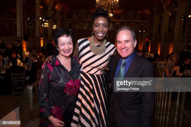 Lynn Ahrens Heather Headley and Stephen Flaherty attend the 10th Annual Broadway Dreams Supper at The Plaza Hotel on December 12 2017 in New York City