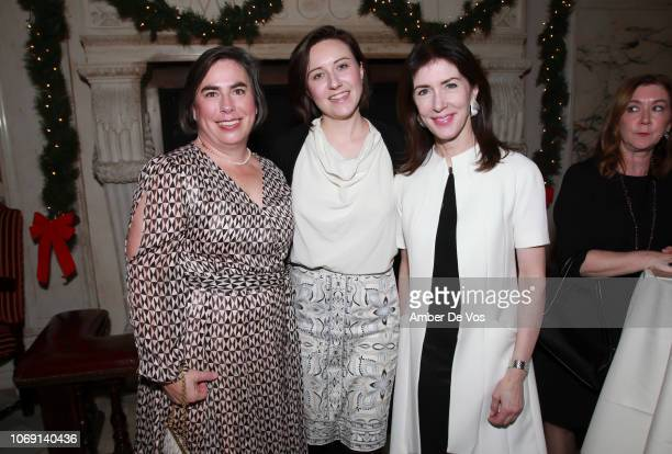 Lynn Amoroso Jeanz Holt and Barbara Eberlein attend ICAA Seventh Annual Stanford White Awards at Metropolitan Club on December 5 2018 in New York City
