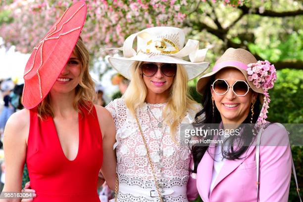 Lynn Anderson Mary Snow and Michal Kadar attend 36th Annual Frederick Law Olmsted Awards Luncheon Central Park Conservancy at The Conservatory Garden...