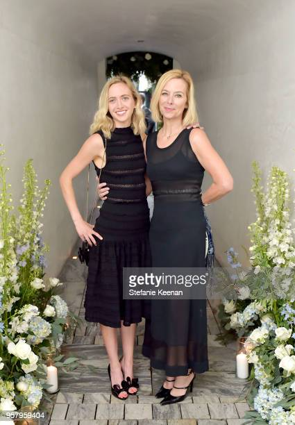 Lynn Bradshaw and guest attend Alexa Dell and Harrison Refoua's engagement celebration at Ysabel on May 12 2018 in West Hollywood California