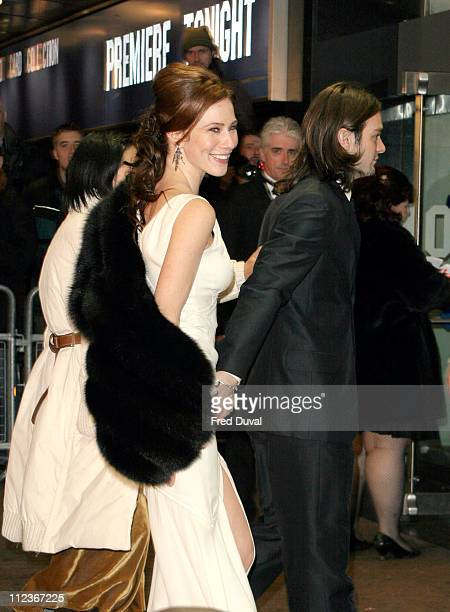 Lynn Collins and Charlie Cox during 'Merchant of Venice' Royal Premiere London at Odeon Leicester Square in London Great Britain