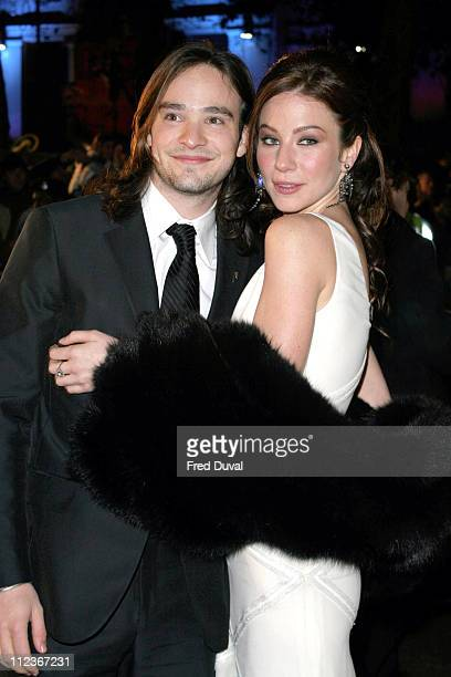 Lynn Collins and Charlie Cox during Merchant of Venice Royal Premiere London at Odeon Leicester Square in London Great Britain
