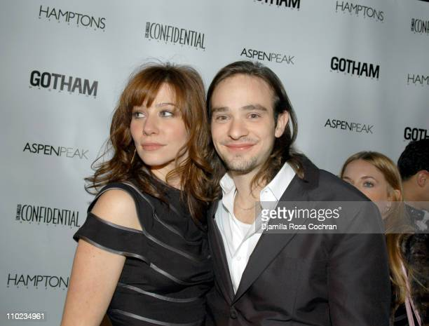 Lynn Collins and Charlie Cox during The Merchant of Venice New York City Premiere presented by Gotham Magazine After Party at AER Lounge in New York...