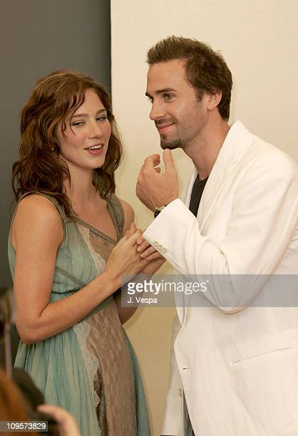 Lynn Collins and Joseph Fiennes during 2004 Venice Film Festival 'The Merchant Of Venice' Photo Call at Casino in Venice Lido Italy