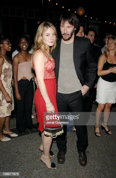 Lynn Collins and Keanu Reeves during Shakespeare in the Park 2005's 'As You Like It' Opening Night After Party at Delacorte Theatre in New York City...