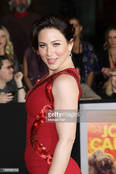 Lynn Collins arrives at the world premiere of Disney's John Carter held at Regal Cinemas LA Live on February 22 2012 in Los Angeles California