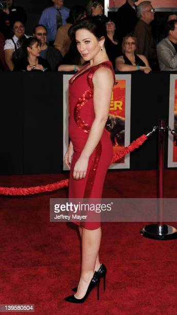 Lynn Collins attends the 'John Carter' Los Angeles premiere held at Regal Cinemas LA Live on February 22 2012 in Los Angeles California
