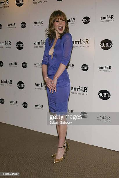 Lynn Collins during amfAR and ACRIA Honor Herb Ritts for His Work and Activism at Sotheby's in New York New York United States
