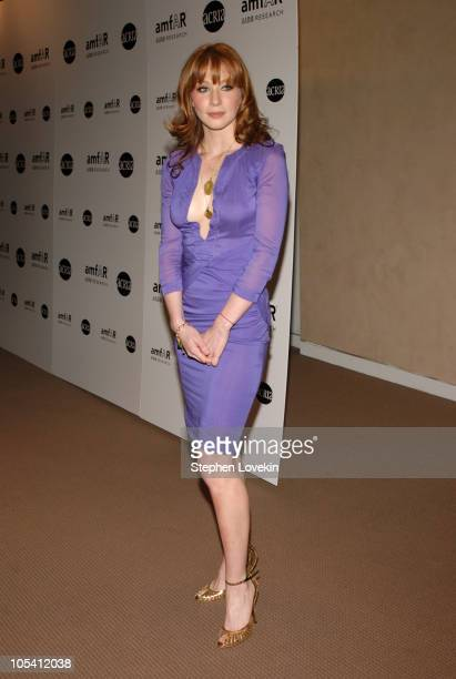 Lynn Collins during amfAR and ACRIA Honor Herb Ritts with a Sale of Contemporary Artwork at Sotheby's in New York City New York United States