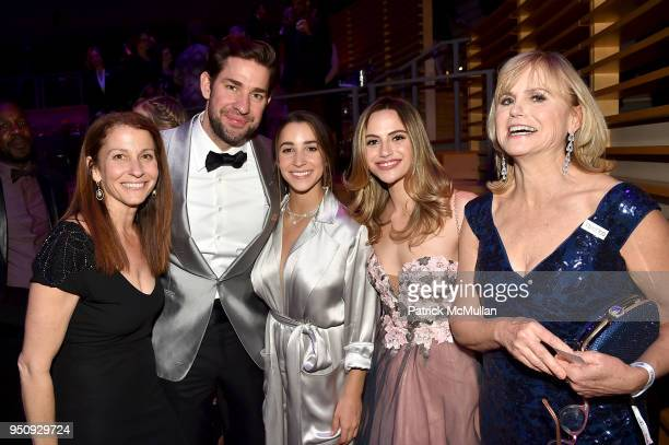 Lynn Faber John Krasinski Aly Raisman Charlotte McKee and Ann McKee attend the 2018 TIME 100 Gala at Jazz at Lincoln Center on April 24 2018 in New...