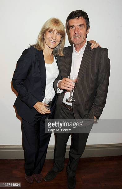 Lynn Faulds Wood and John Stapleton attend a launch party for Penny Smith's new book Summer Holiday at Century on June 9 2011 in London England