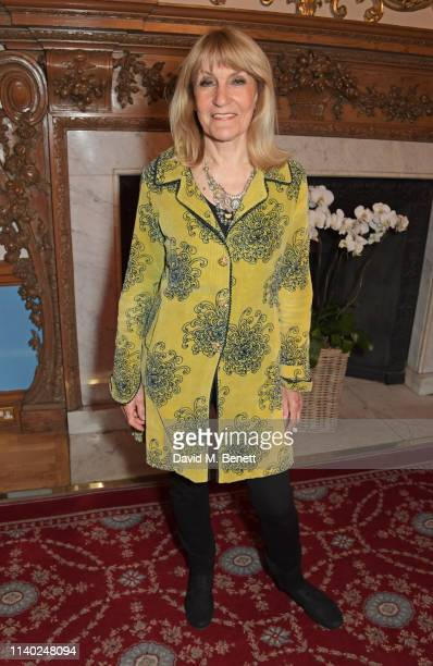 Lynn Faulds Wood attends the London Press Club Awards 2019 at Stationers' Hall on April 30 2019 in London England