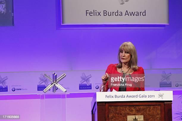 Lynn Faulds Wood Bei Der Verleihung Des Felix Burda Awards Im Hotel Adlon Kempinski In Berlin