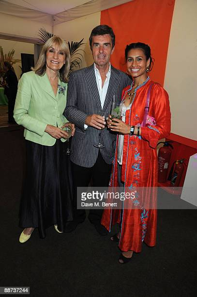 Lynn Faulds Wood John Stapleton and Pia Gadkari attend Pratham UK's first Indian Summer Garden Party aiding illiteracy support amongst Indian...