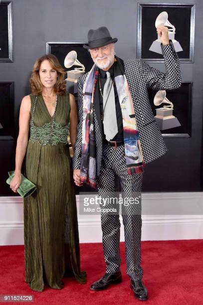 Lynn Frankel and recording artist Mick Fleetwood of Fleetwood Mac attend the 60th Annual GRAMMY Awards at Madison Square Garden on January 28 2018 in...