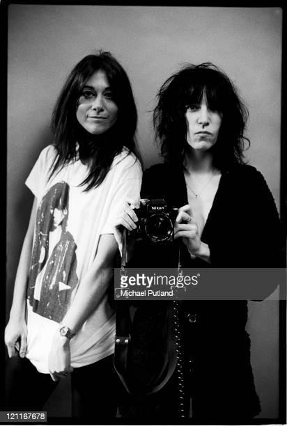 Lynn Goldsmith and Patti Smith studio portrait New York 1978