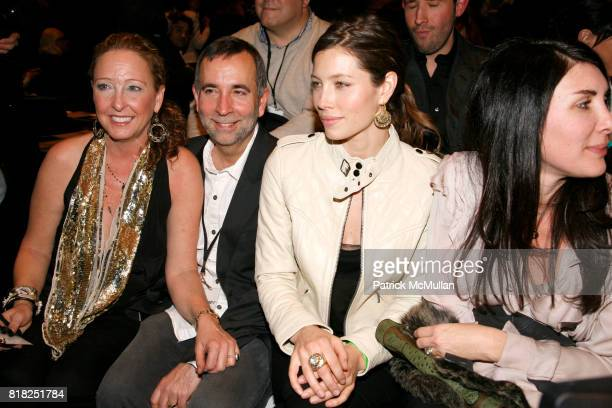 Lynn Harless Paul Harless and Jessica Biel attend WILLIAM RAST Fall 2010 Collection at Cedar Lake 547 W 26th St on February 17 2010 in New York