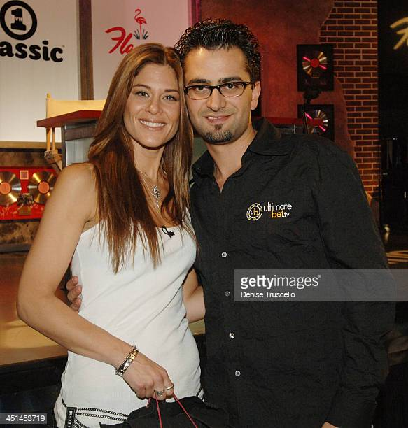 Lynn Hoffman and Antonio Esfandiari during Vh1 Celebrity Poker Tournament at The Flamingo Hotel and Casino Resort in Las Vegas Nevada