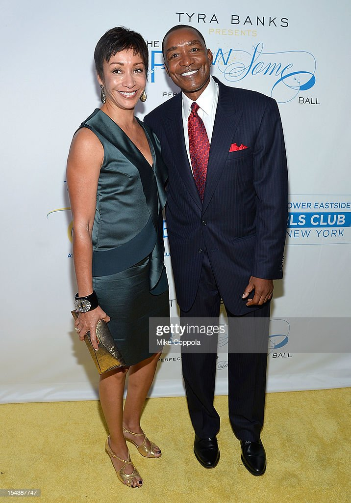 Lynn Kendall (L) and husband/former professional basketball player Isiah Thomas attend The Flawsome Ball For The Tyra Banks TZONE at Capitale on October 18, 2012 in New York City.