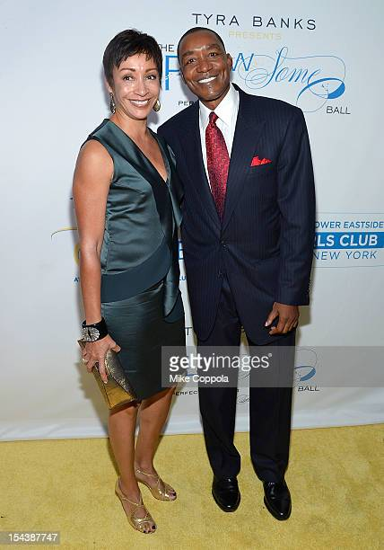 Lynn Kendall and husband/former professional basketball player Isiah Thomas attend The Flawsome Ball For The Tyra Banks TZONE at Capitale on October...