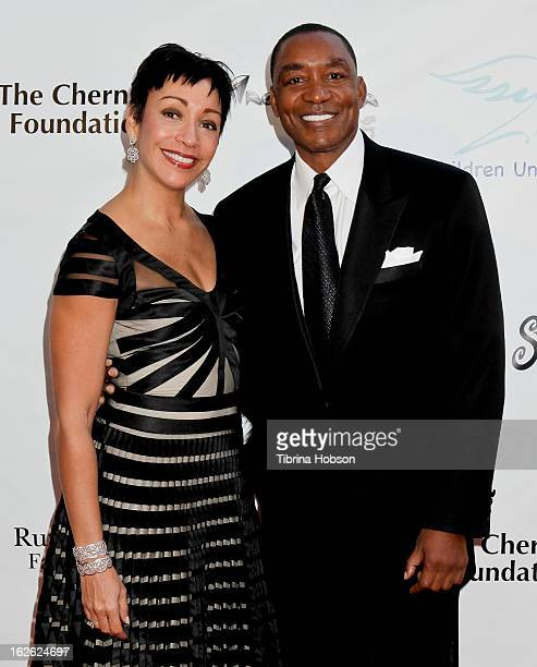 Lynn Kendall and Isiah Thomas attend the 14th annual Children Uniting Nations awards on February 24 2013 in Beverly Hills California
