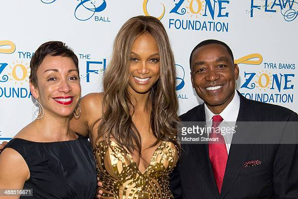 Lynn Kendall model Tyra Banks and former NBA player/coach Isiah Thomas attend Tyra Banks' Flawsome Ball 2014 at Cipriani Wall Street on May 6 2014 in...