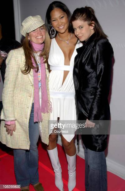 Lynn Koplitz Kimora Lee Simmons and Jules Asner during Olympus Fashion Week Fall 2004 Baby Phat Front Row and Backstage at Gotham Hall in New York...