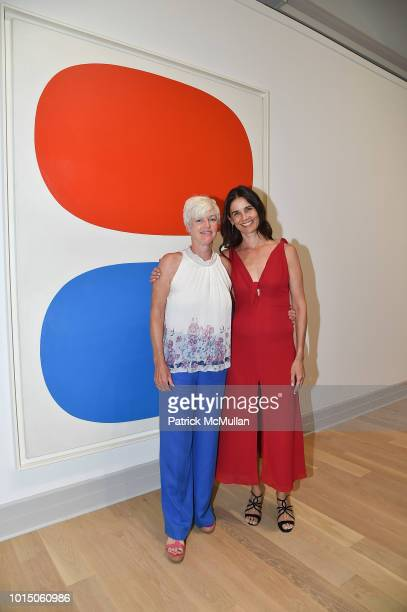 Lynn Marchand and Pamela Paspa attend the Guild Hall Summer Gala 2018 at Guild Hall on August 10 2018 in East Hampton New York