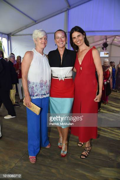 Lynn Marchand Christina Liceaga and Pamela Paspa attend the Guild Hall Summer Gala 2018 at Guild Hall on August 10 2018 in East Hampton New York