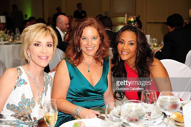 Lynn Martinez Michelle Payer and Vivica Fox attends the First Annual Friends of the Orphans Gala at JW Marriott on October 16 2009 in Miami Florida