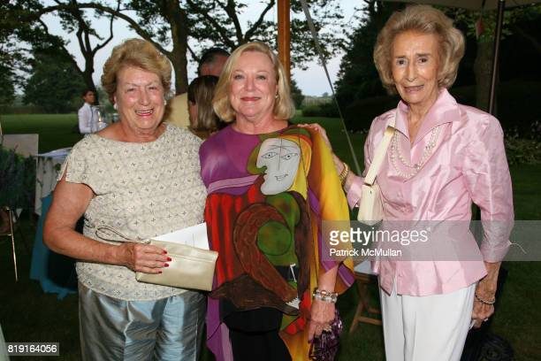 Lynn Packard Peggy Lewis and Polly Johnson attend 'American Beauty' The SOUTHAMPTON ROSE SOCIETY Cocktail Party Benefit at Private Residence on July...