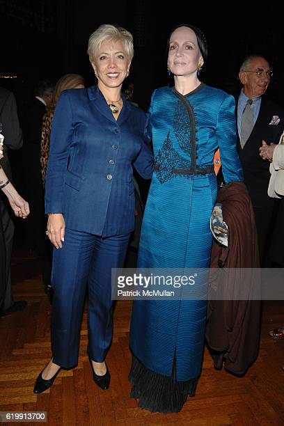 Lynn Paulson and Mary McFadden attend TIFFANY Co Celebrate the Publication of Tiffany Style by John Loring at Park Avenue Armory on October 20 2008...