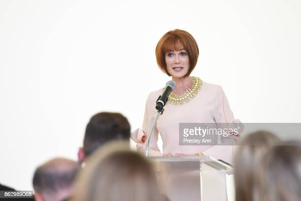 Lynn Posluns attends VIP Conversation for Women's Brain Health Initiative Hosted by Sharon Stone at Gagosian Gallery on October 18 2017 in Beverly...