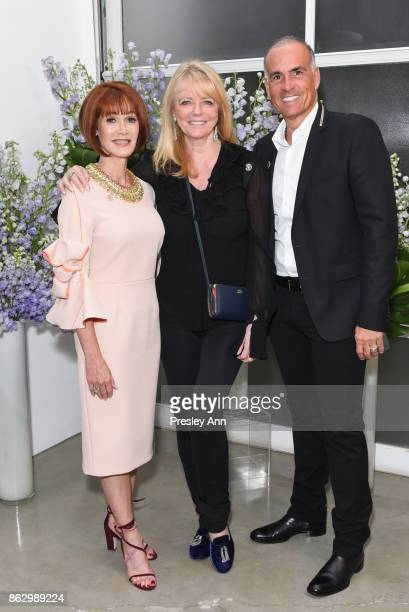 Lynn Posluns Cheryl Tiegs and Mark Lash attend VIP Conversation for Women's Brain Health Initiative Hosted by Sharon Stone at Gagosian Gallery on...