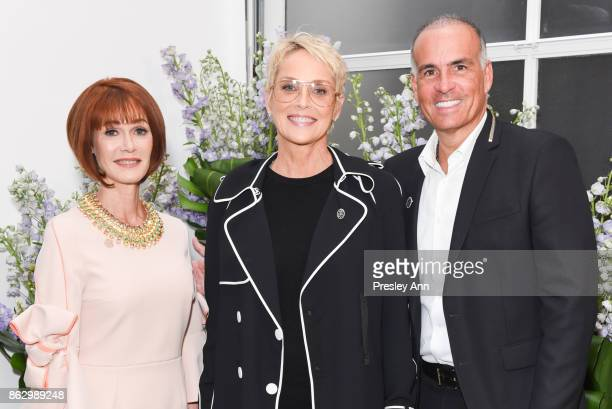 Lynn Posluns Sharon Stone and Mark Lash attend VIP Conversation for Women's Brain Health Initiative Hosted by Sharon Stone at Gagosian Gallery on...