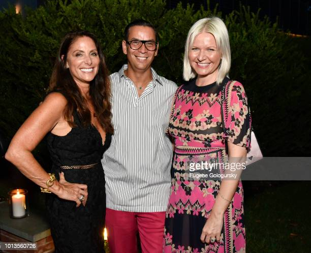 Lynn Scotti James Aguiar and Anetta Nowosielka attend the Hamptons Magazine And Saks Fifth Avenue Celebration of Cover Stars Neil Patrick Harris And...