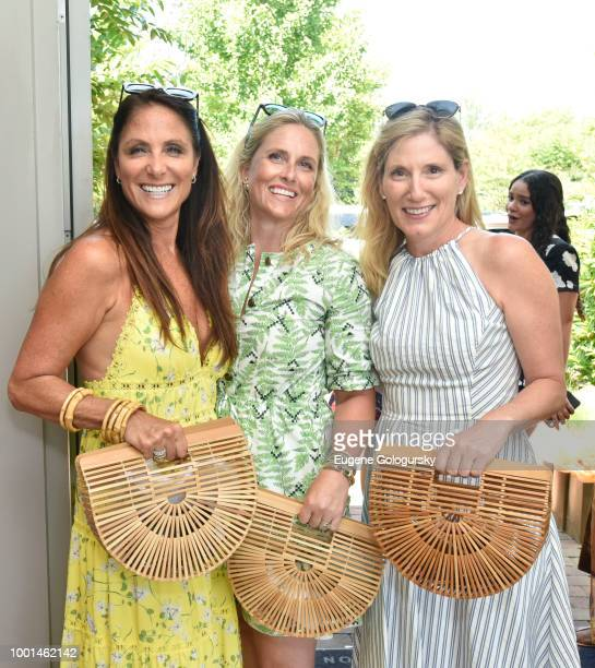 Lynn Scotti Sarah Wetenhall and Amy Butte attend the Hamptons Magazine London Jewelers Host A Luxury Shopping Afternoon at Topping Rose House on July...