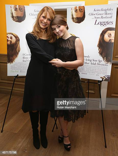 Lynn Shelton and Kaitlyn Dever attend Laggies New York Premiere at Crosby Street Hotel on October 13 2014 in New York City