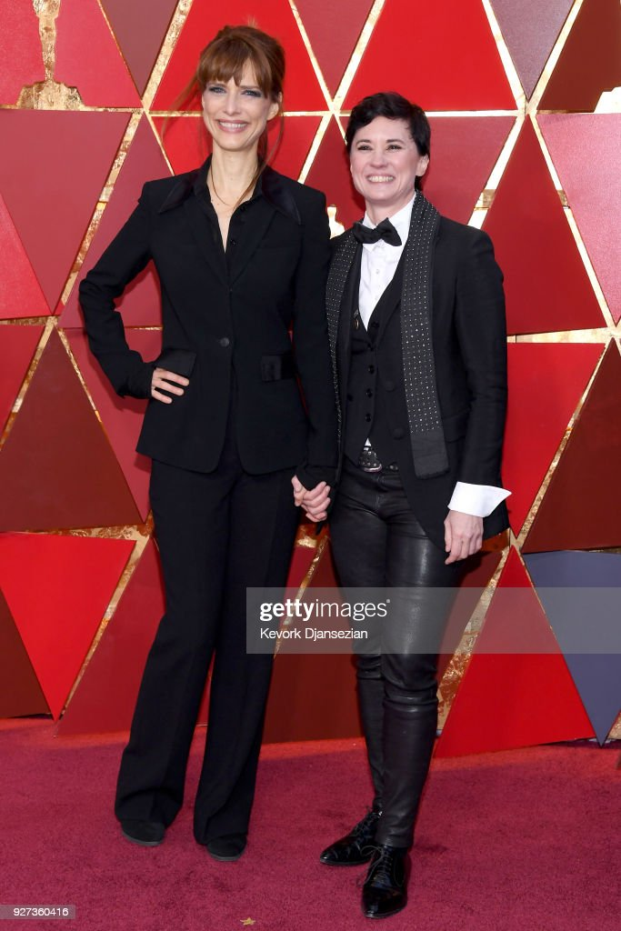 Lynn Shelton (L) and Kimberly Peirce attend the 90th Annual Academy Awards at Hollywood & Highland Center on March 4, 2018 in Hollywood, California.