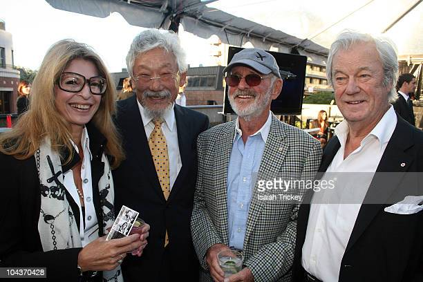 Lynn St. David, David Suzuki, Norman Jewison and Gordon Pinsent at City Park Rooftop on September 13, 2010 in Toronto, Canada.