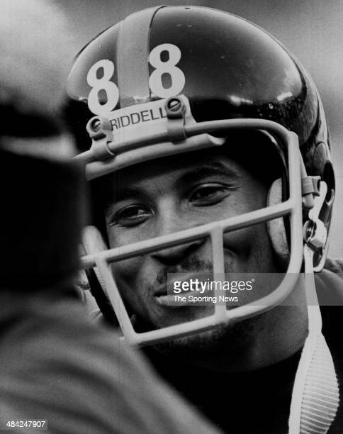 Lynn Swann of the Pittsburgh Steelers smiles circa 1970s