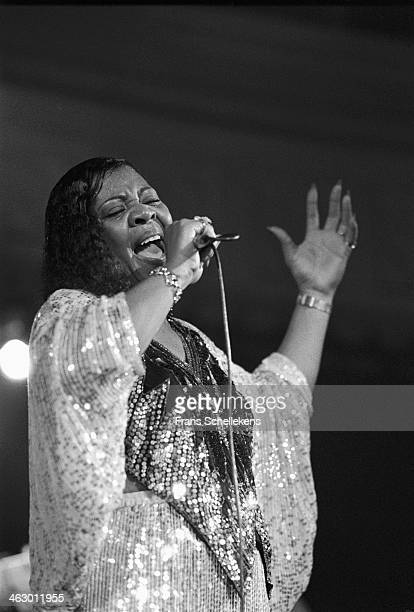 Lynn White, vocal performs at the Paradiso during Memphis Soul Night in Amsterdam, the Netherlands on 5th November 1989.