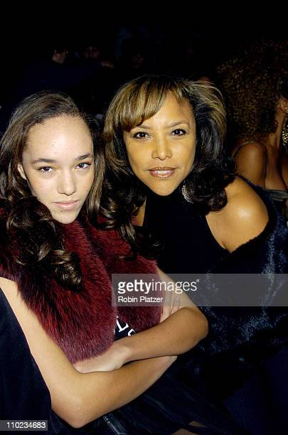 Lynn Whitfield and daughter Grace 13 years old during Olympus Fashion Week Fall 2005 Zang Toi Front Row at Olympus Fashion Week at Bryant Park in New...