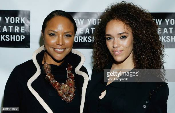 Lynn Whitfield and Grace Gibson attend 'What's It All About Bacharach Reimagined' Off Broadway Opening Night at Phebe's on December 5 2013 in New...
